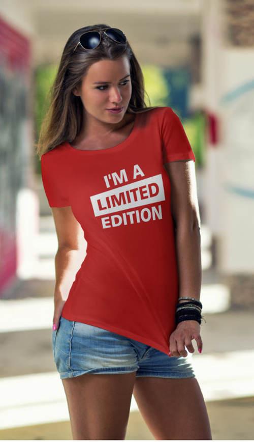 Női póló nyomtatott I'm egy limitált kiadású póló