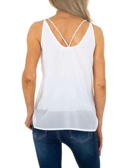 Fehér divatos pánt nélküli felső