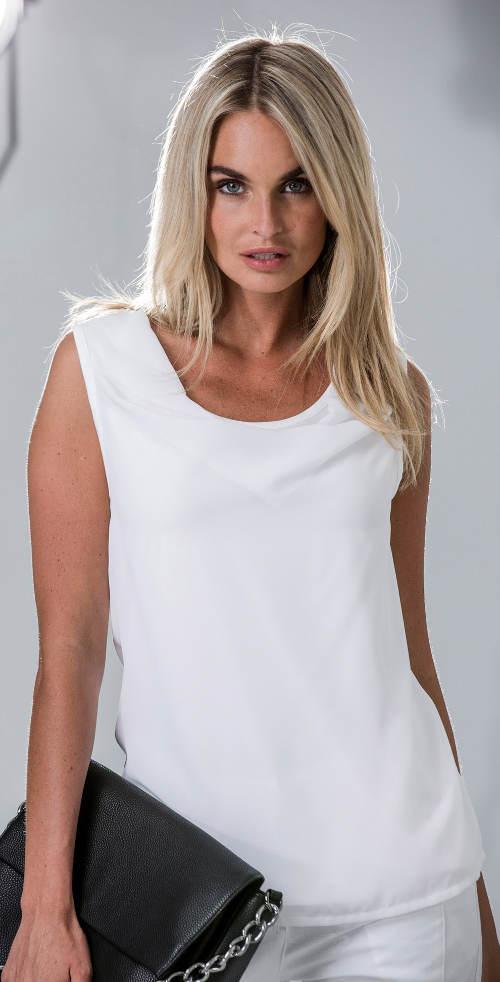 Fehér női nyári blúz
