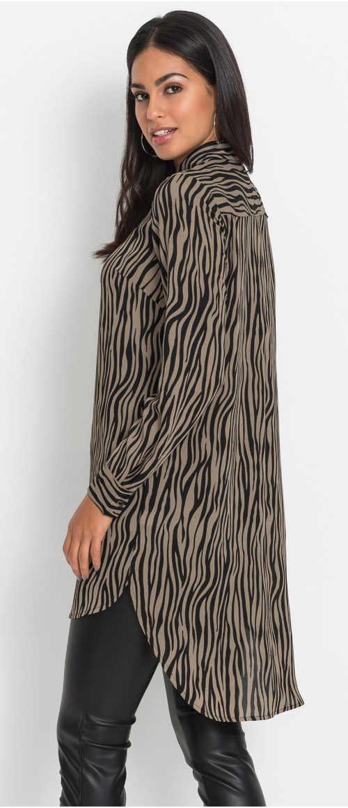 Hosszú zebra ing nőknek