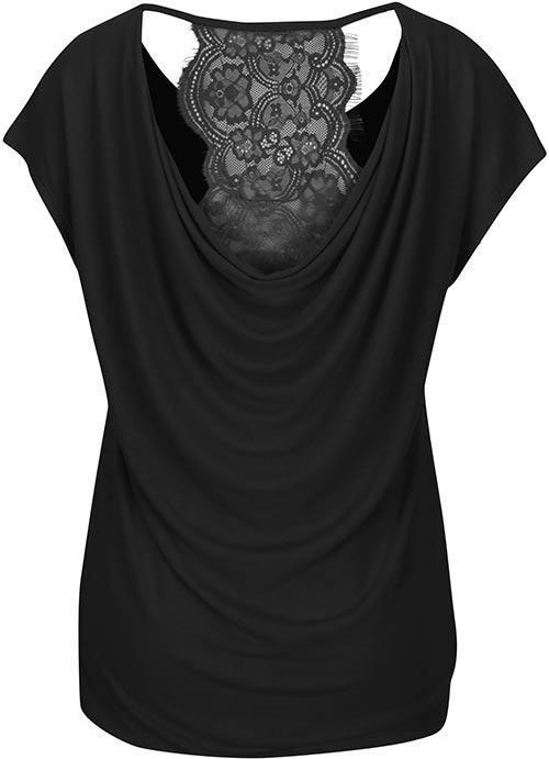 Női póló vízeséses hátú póló