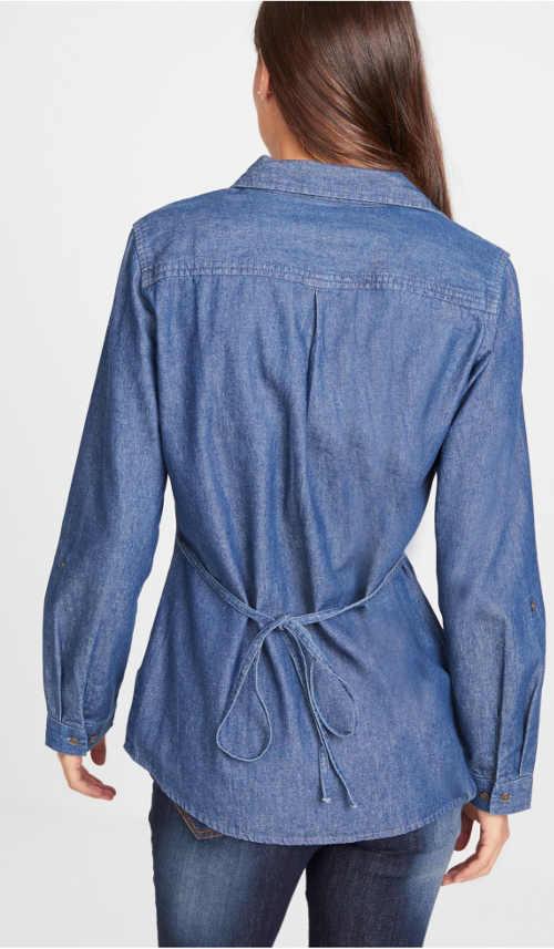 Puskás ing fűzős hátsó résszel